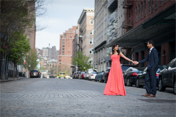 Saloni + Vijay | Tribeca Engagement Session